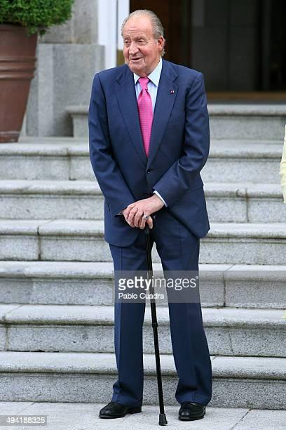 King Juan Carlos of Spain at Zarzuela Palace on May 28 2014 in Madrid Spain