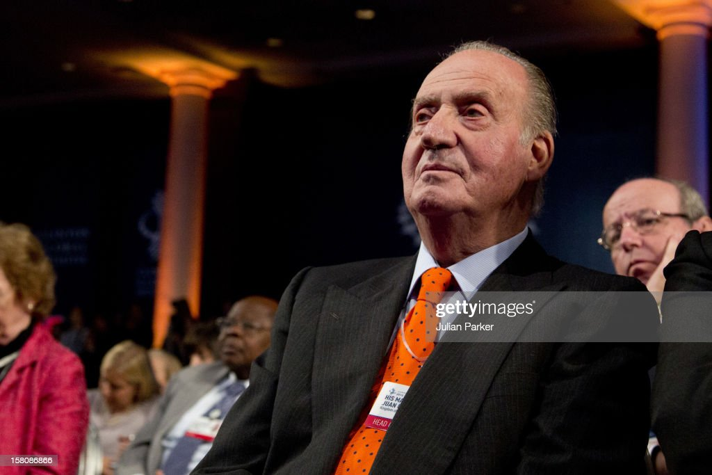 King Juan Carlos Of Spain Attending The Opening Session Of The Clinton Global Initiative 'Designing For Impact ' At The Sheraton Hotel And Towers In New York, Usa.