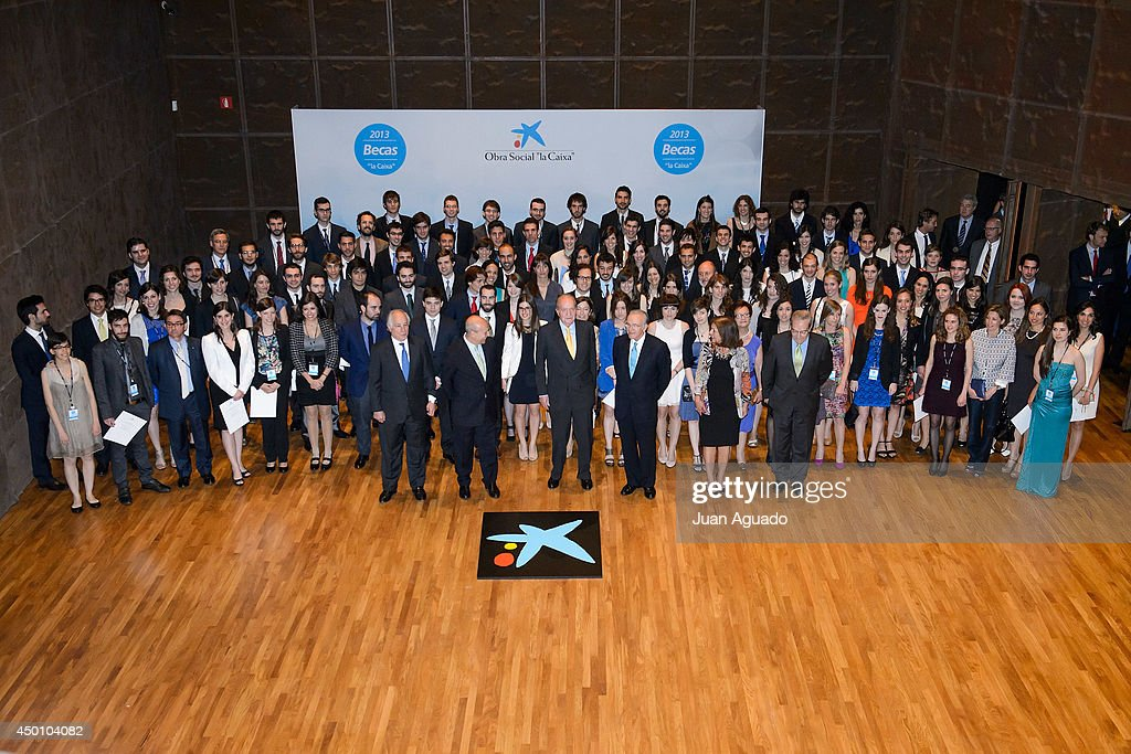 King Juan Carlos of Spain Attends the Delivery of 'La Caixa' Scholarships in Madrid