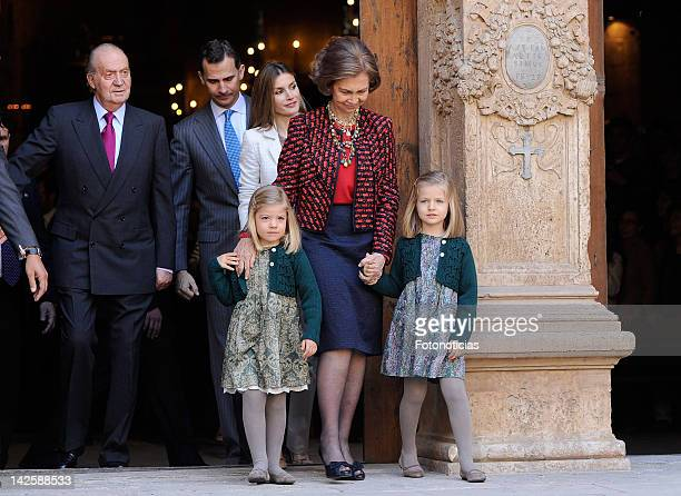 King Juan Carlos of Spain Prince Felipe of Spain Princess Letizia of Spain Princess Sofia of Spain Queen Sofia of Spain and Princess Leonor of Spain...