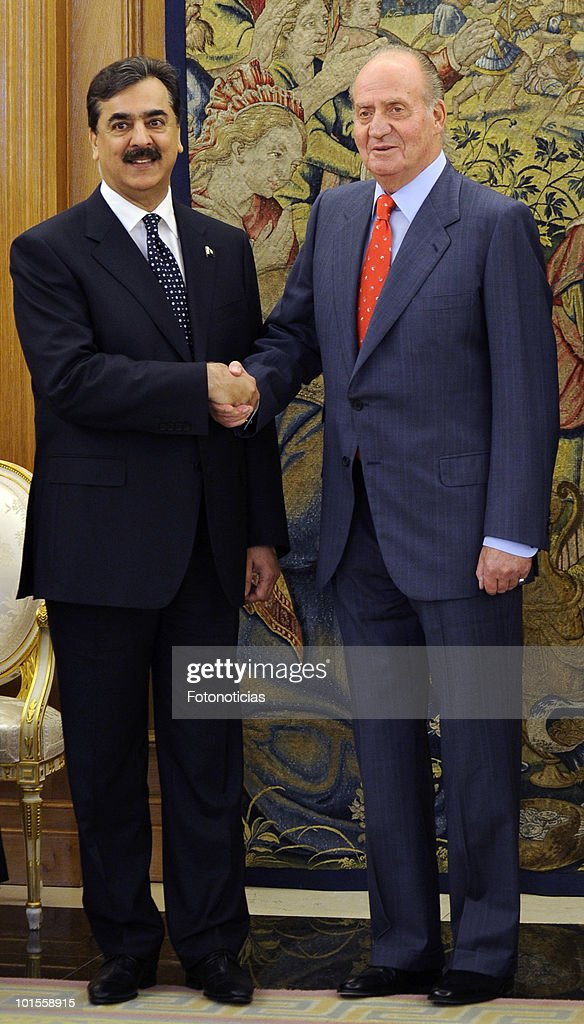 Spanish King Juan Carlos Meets the Prime Minister of Pakistan in Madrid