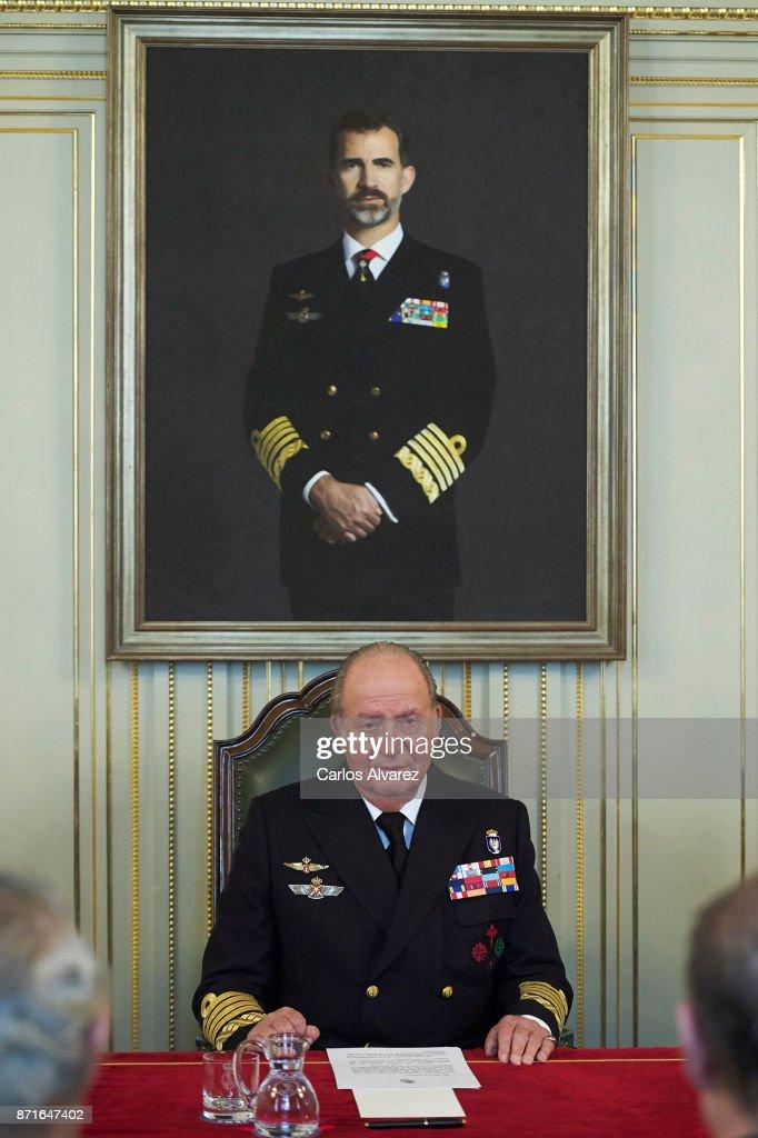 King Juan Carlos Meets Naval Museum Board