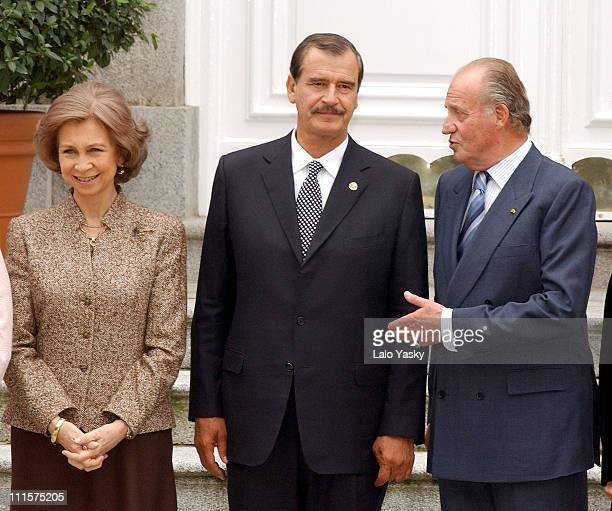 King Juan Carlos Queen Sofia and President Vicente Fox
