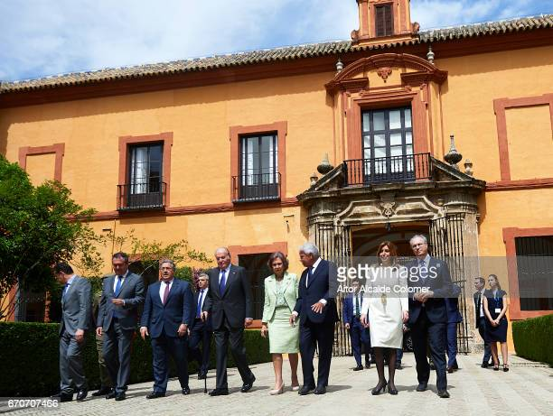 King Juan Carlos Queen Sofia former President of Spain Felipe Gonzalez President of Andalusia Susana Diaz attends the 25th Anniversary Tribute Of...
