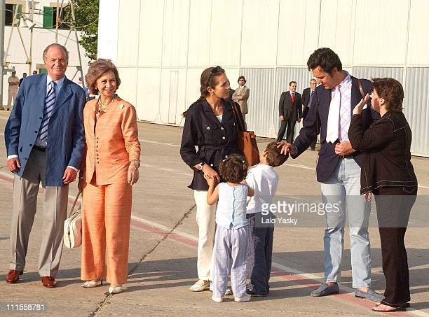 King Juan Carlos Queen Sofia Princess Elena and husband Jaime de Marichalar with daughter Victoria Federica and son Felipe Juan Froilan