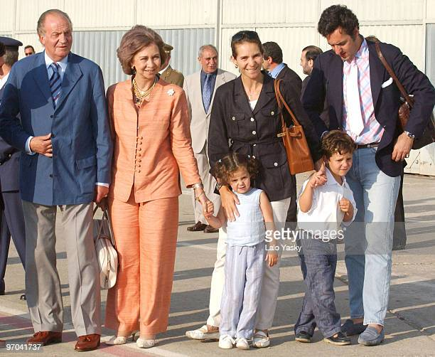 King Juan Carlos Queen Sofia Princess Elena and husband Jaime de Marichalar with daughter Victoria Federica and son Felipe Juan Froilan