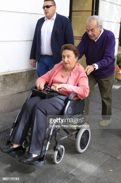 King Juan Carlos's brotherinlaw Doctor Carlos Zurita celebrates his 73th birthday with his wife Princess Margarita on October 9 2017 in Madrid Spain