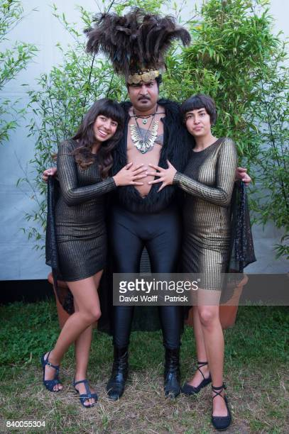 King Khan of King Khan and the Shrines poses backtstage at Rock en Seine Festival at Domaine National de SaintCloud on August 27 2017 in Paris France