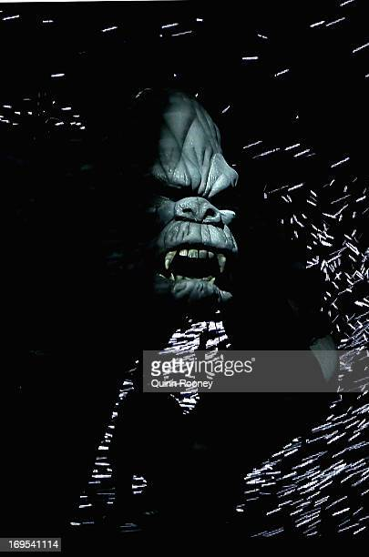 King Kong performs on stage during a 'King Kong' Production media call at the Regent Theatre on May 27 2013 in Melbourne Australia