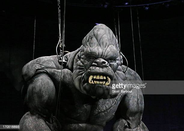King Kong poses on stage during a 'King Kong' production media call at the Regent Theatre on June 14 2013 in Melbourne Australia Based on the novel...