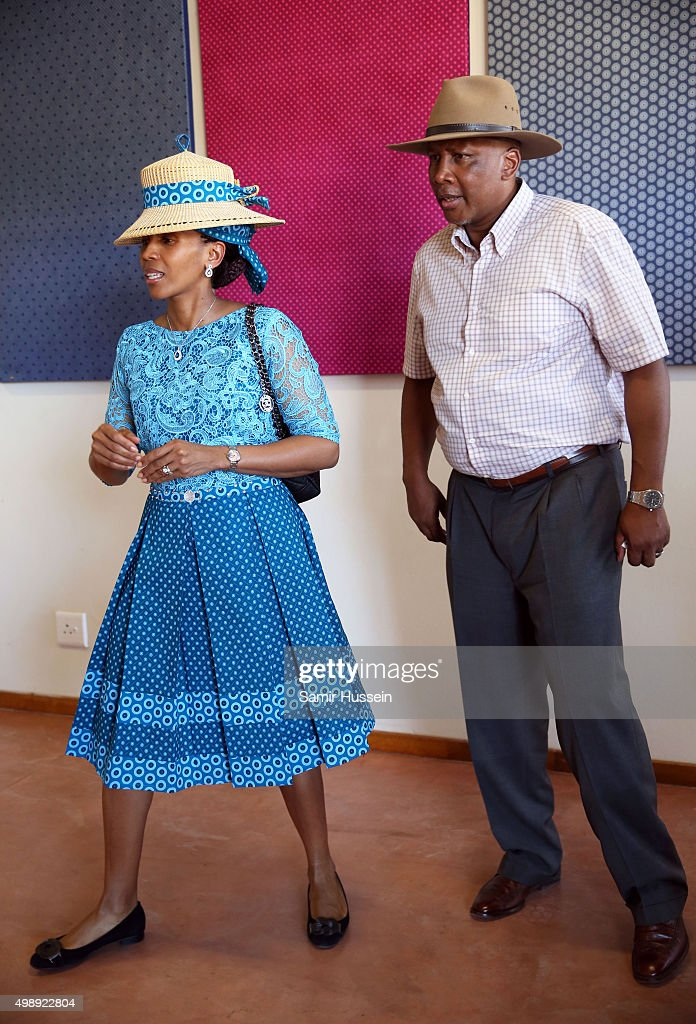 King <a gi-track='captionPersonalityLinkClicked' href=/galleries/search?phrase=Letsie+III&family=editorial&specificpeople=572600 ng-click='$event.stopPropagation()'>Letsie III</a> and Queen Letsie of Lesotho are seen during Prince Harry's official visit to Africa on November 26, 2015 in Maseru, Lesotho.