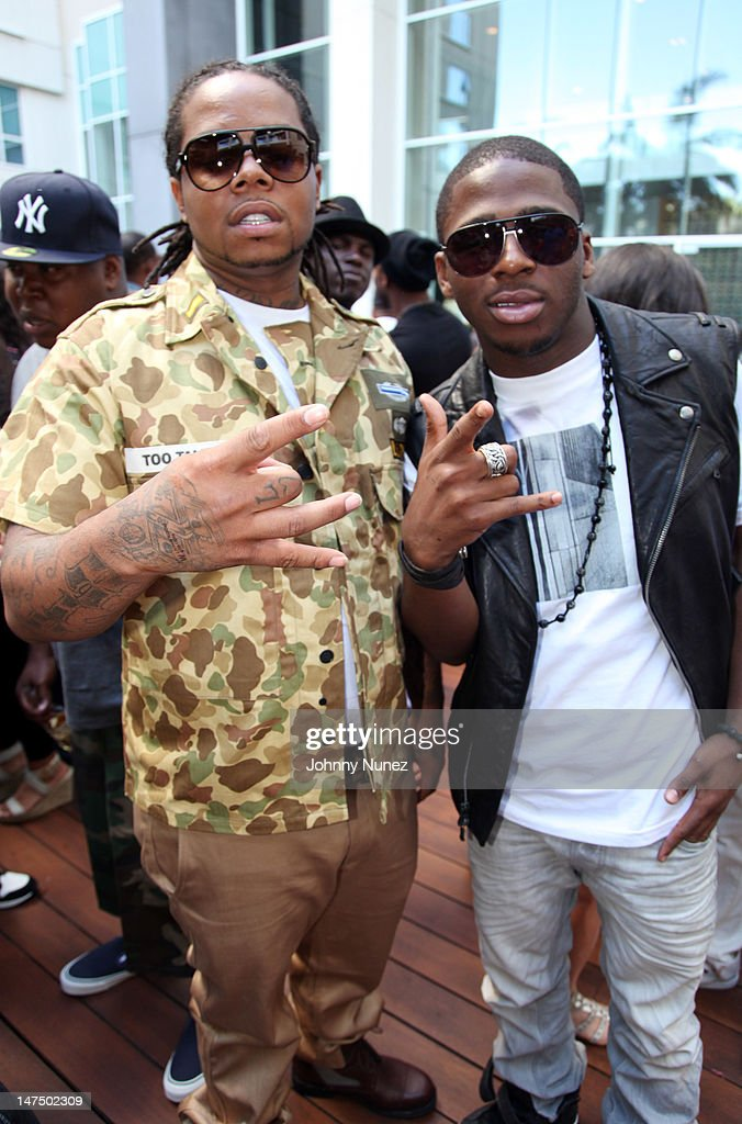 King Louie and Marcus Canty attend the Epic Records 'Epic Moment' Event at The Station Hollywood on June 30, 2012 in Hollywood, California.
