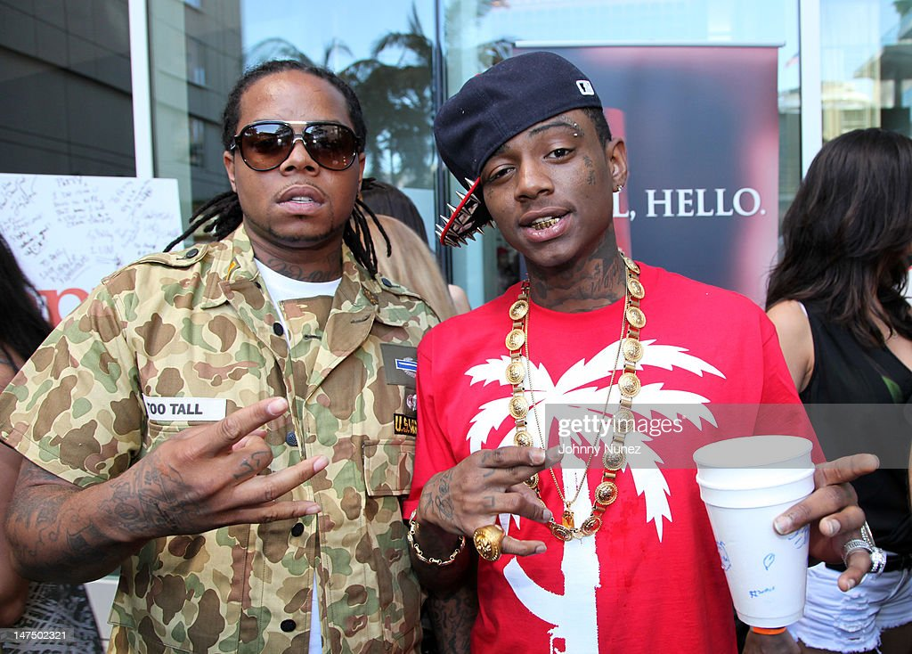 King Louie and <a gi-track='captionPersonalityLinkClicked' href=/galleries/search?phrase=Soulja+Boy&family=editorial&specificpeople=4411462 ng-click='$event.stopPropagation()'>Soulja Boy</a> attend the Epic Records 'Epic Moment' Event at The Station Hollywood on June 30, 2012 in Hollywood, California.