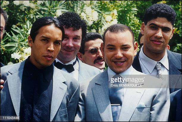 King Mohamed Vi With Successful Young Moroccan Men With Hicham Harazi In Mecca Morocco In 2004