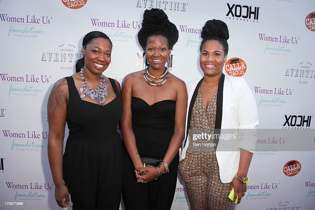 King musical group members Paris Strother, Amber Strother and Anita Bias attends the Women Like Us Foundation's One Girl at a Time Fundraiser at the Aventine Hollywood on July 30, 2013 in Hollywood, California.