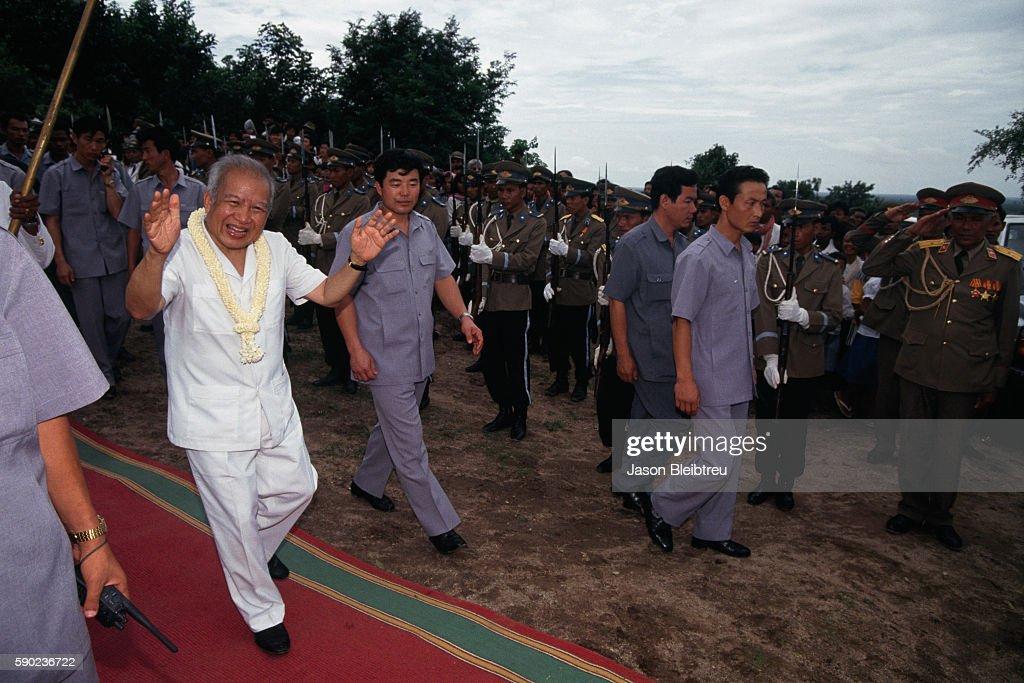 King Norodom Sihanouk of Cambodia