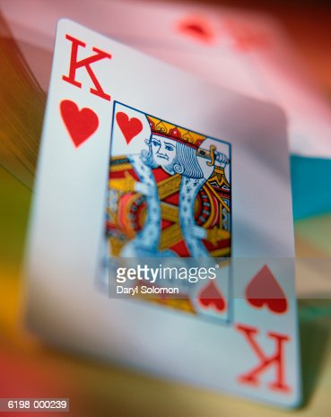 King of Hearts Playing Card : Stock Photo