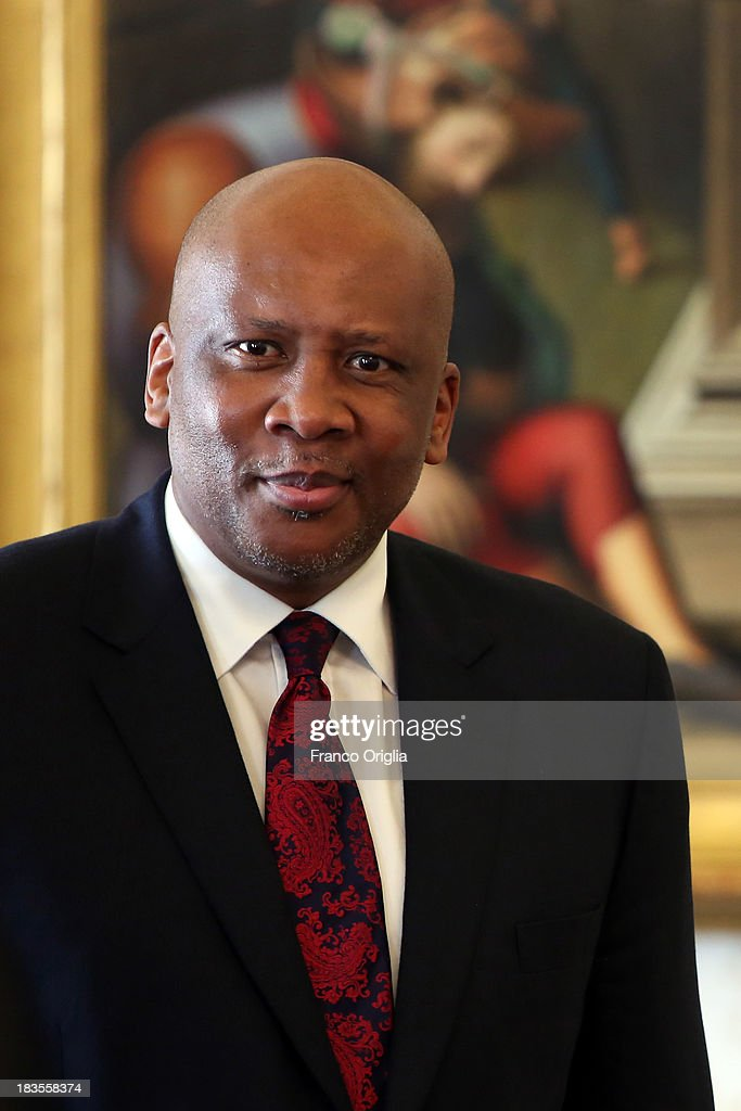 King of Lesotho <a gi-track='captionPersonalityLinkClicked' href=/galleries/search?phrase=Letsie+III&family=editorial&specificpeople=572600 ng-click='$event.stopPropagation()'>Letsie III</a> attends an audience with Pope Francis on October 7, 2013 in Vatican City, Vatican. The themes of their meeting have been education, family and religious freedom.