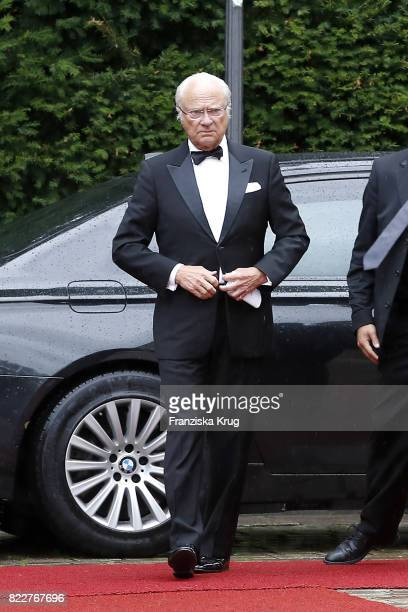 King of Sweden Carl XVI Gustaf attends the Bayreuth Festival 2017 Opening on July 25 2017 in Bayreuth Germany