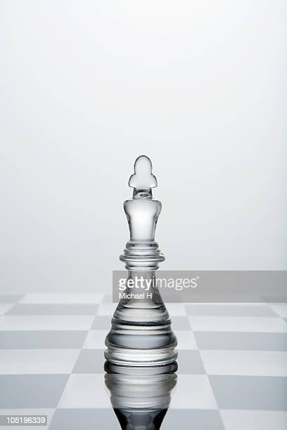 King of transparency put on chess board
