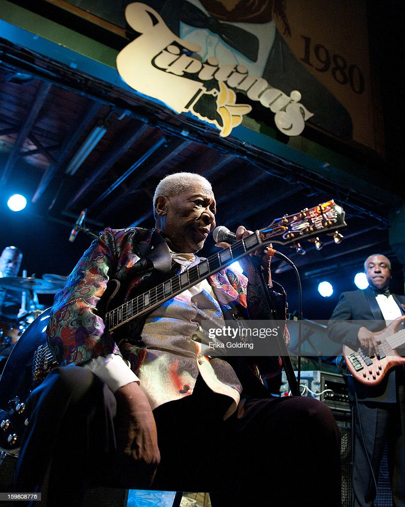 BB King performs as part of the Tipitina's 35th Anniversary Concert Series at Tipitina's on January 20, 2013 in New Orleans, Louisiana.