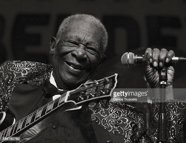BB King performs at the 2014 Big Blues Bender at the Rivera Hotel Casino on September 26 2014 in Las Vegas Nevada