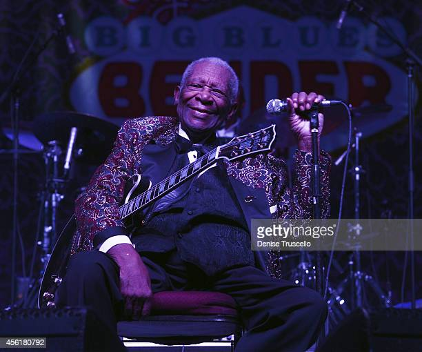 B King performs at the 2014 Big Blues Bender at the Rivera Hotel Casino on September 26 2014 in Las Vegas Nevada