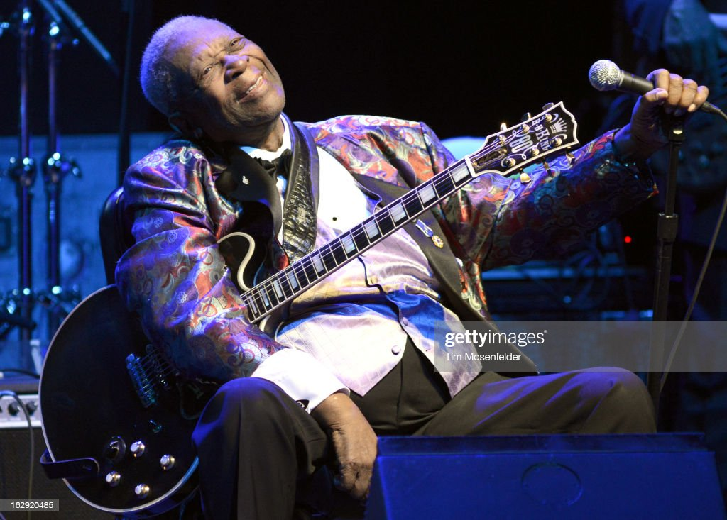 B King performs at The Fox Theatre on February 28 2013 in Oakland California