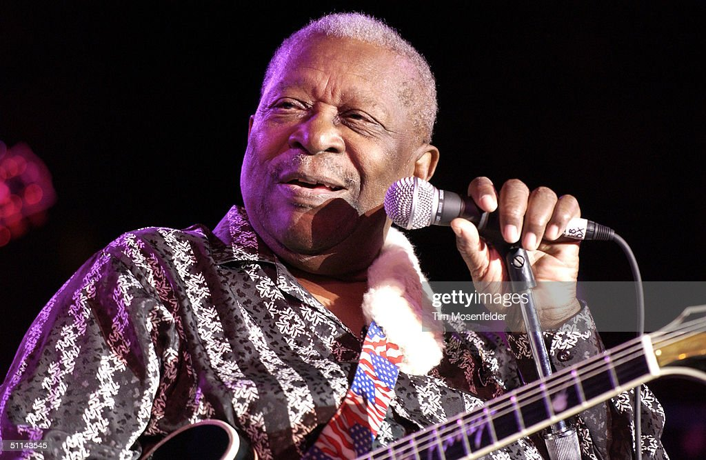 B.B. King performs during part of his 'B.B. King's Blues Festival Tour 2004' on August 4, 2004 at the Mountain Winery, in Saratoga, California.