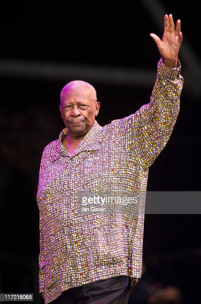 King performs live on the Pyramid stage during the Glastonbury Festival at Worthy Farm Pilton on June 24 2011 in Glastonbury England The festival...
