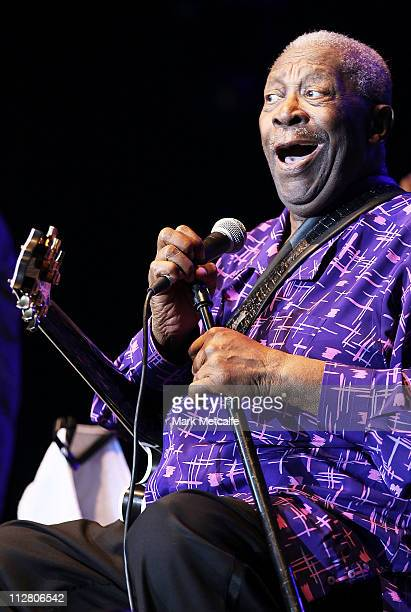 King performs on stage during day two of the Bluesfest Music Festival at Tyagarah Tea Tree Farm on April 22 2011 in Byron Bay Australia