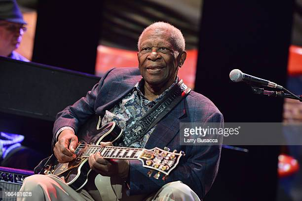 B King performs on stage during the 2013 Crossroads Guitar Festival at Madison Square Garden on April 12 2013 in New York City