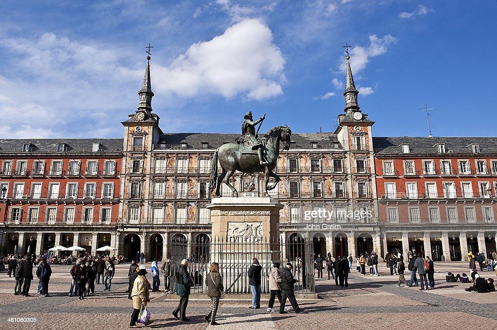 King Philip III landmark in the Plaza Mayor