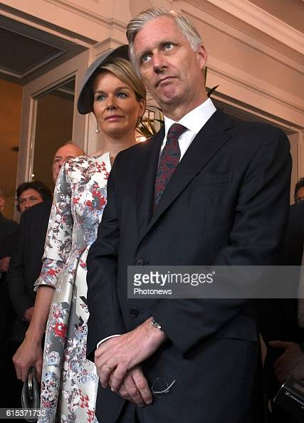 king-philippe-and-queen-mathilde-inaugurate-with-king-willemalexander-picture-id615371732