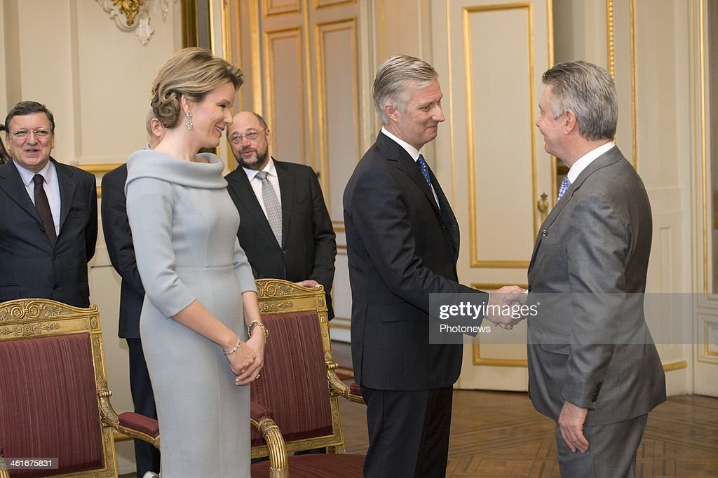 Belgium Royal Family Holds Reception For European Union