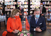 King Philippe Of Belgium And Queen Mathilde Of Belgium...