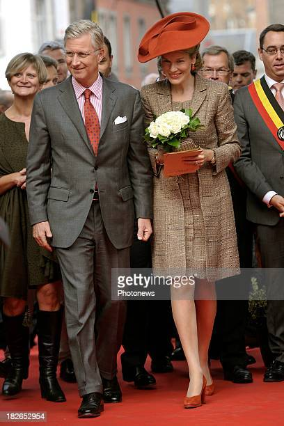 King Philippe and Queen Mathilde of Belgium visit to the province of Namur on October 2 2013 in Namur Belgium