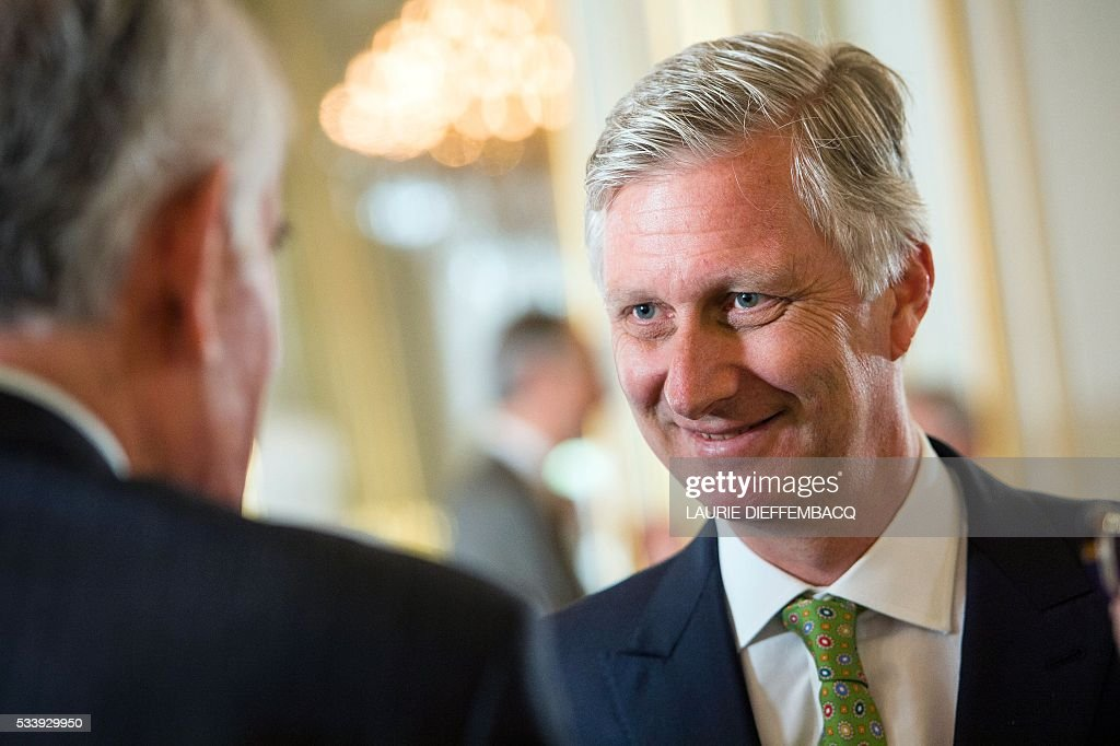 King Philippe - Filip of Belgium attends a lunch for the jury members of the Queen Elisabeth Piano Competition 2016, at the Royal Palace in Brussels, on May 24, 2016. / AFP / Belga / LAURIE DIEFFEMBACQ / Belgium OUT