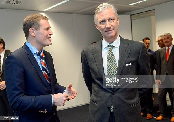 King Philippe meets the representatives of UNIZO