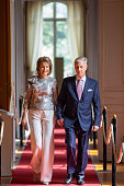BEL: King Philippe Of Belgium And Queen Mathilde Of Belgium Attend The Summer Exhibitions At  the Royal Palace In Brussels