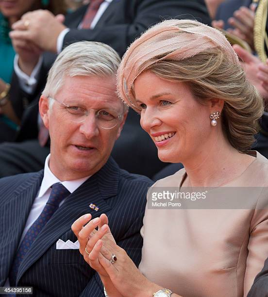 King Philippe of Belgium and Queen Mathilde of Belgium attend celebrations marking the 200th anniversary of the kingdom of The Netherlandson August...