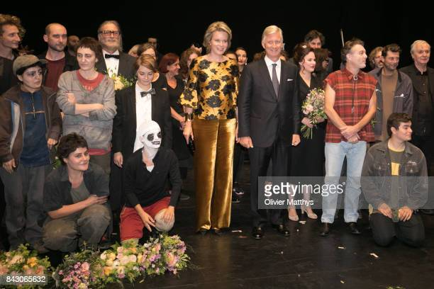 King Philippe of Belgium and Queen Mathilde of Belgium attend the opera Pinocchio at the Royal Monnaie on September 5 2017 in Brussels Belgium