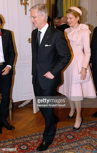 King Philippe of Belgium and Queen Mathilde Of Belgium during their visit to the Residence of the Ambassador of Belgium on a One Day Official Visit...