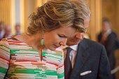 King Philippe Of Belgium And Queen Mathilde Of Belgium...