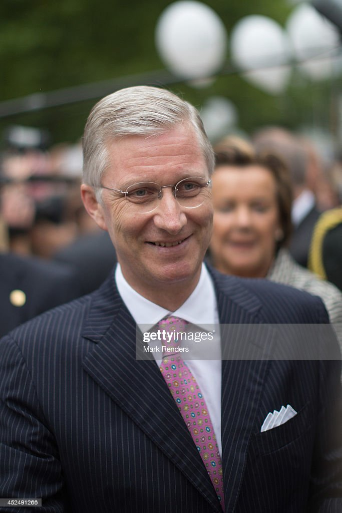King Philippe of Belgium attends National Day at Place des Palais on July 21, 2014 in Brussel, Belgium.