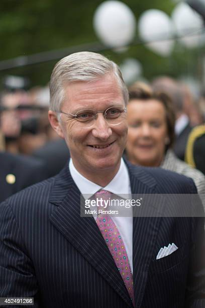 King Philippe of Belgium attends National Day at Place des Palais on July 21 2014 in Brussel Belgium
