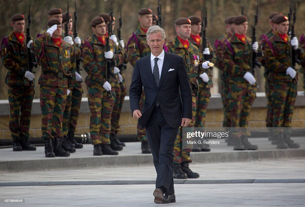 King Philippe of Belgium attends the commemoration of 100th anniversary of WWI on October 28, 2014 in Nieuwpoort, Belgium.