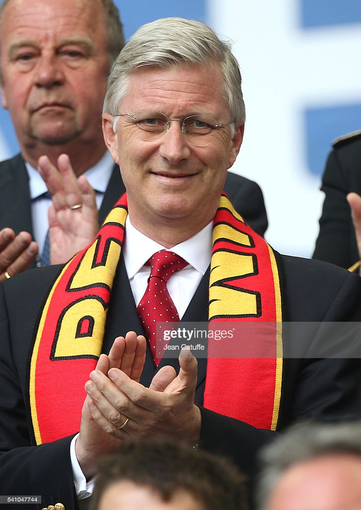 King Philippe of Belgium attends the UEFA EURO 2016 Group E match between Belgium and Republic of Ireland at Stade Matmut Atlantique on June 18, 2016 in Bordeaux, France.