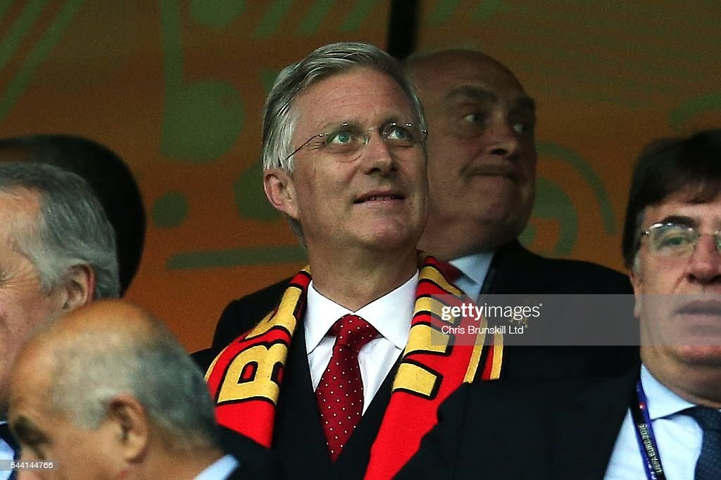 King <a gi-track='captionPersonalityLinkClicked' href=/galleries/search?phrase=Philippe+of+Belgium&family=editorial&specificpeople=160209 ng-click='$event.stopPropagation()'>Philippe of Belgium</a> looks on during the UEFA Euro 2016 Quarter Final match between Wales and Belgium at Stade Pierre-Mauroy on July 1, 2016 in Lille, France.