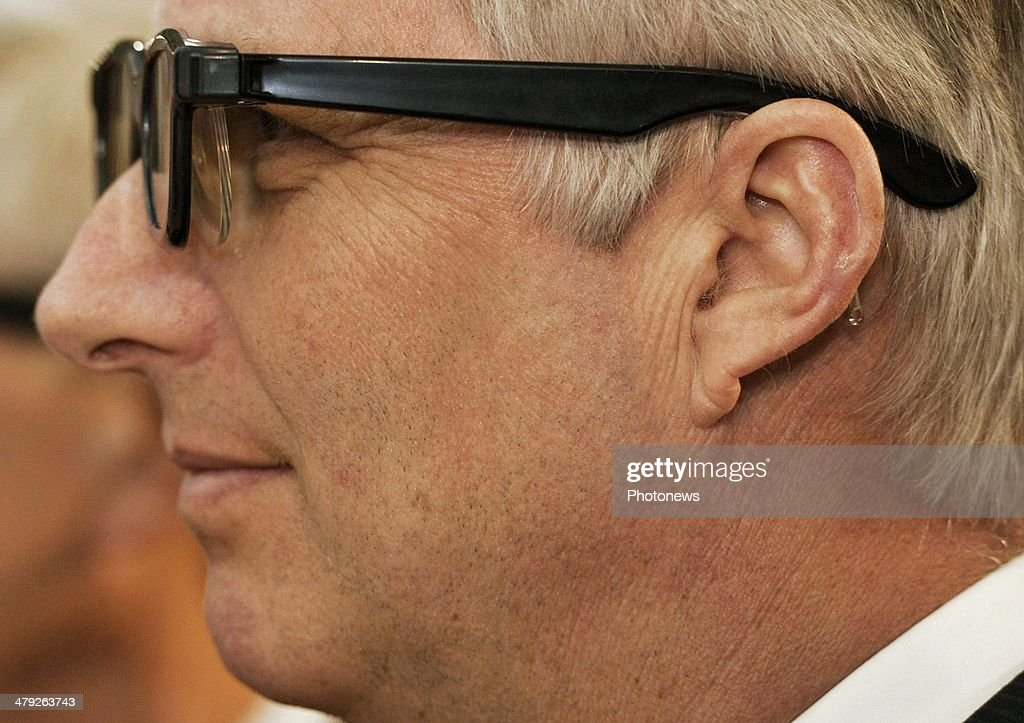 King Philippe of Belgium pictured during his visit to the 'Science Center World Summit' event on March 17 2014 in Mechelen Belgium